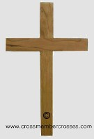 Traditional Wooden Cross - Cherry